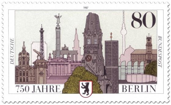 Briefmarke: Briefmarke 750 Jahre Berlin (Sehenswürdigkeiten)