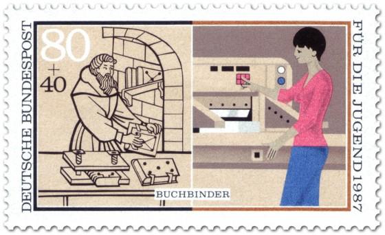 Briefmarke: Buchbinder