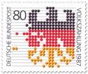 Briefmarke: Volkszählung 1987 - Deutschland Bundesadler