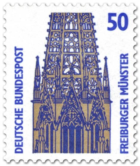 Briefmarke: Freiburger Münster (Turm)