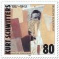 Briefmarke: Kurt Schwitters (Künstler)
