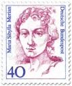 Briefmarke: Maria Sibylla Merian (Künstlerin)