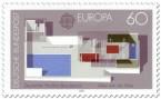 Briefmarke für Mies van der Rohe: Pavillon in Barcelona (1987)
