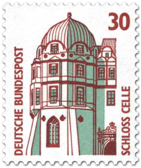 Briefmarke: Schloss Celle (Turm)