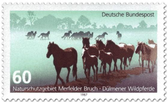 Briefmarke: Dülmener Wildpferde im Merfelder Bruch