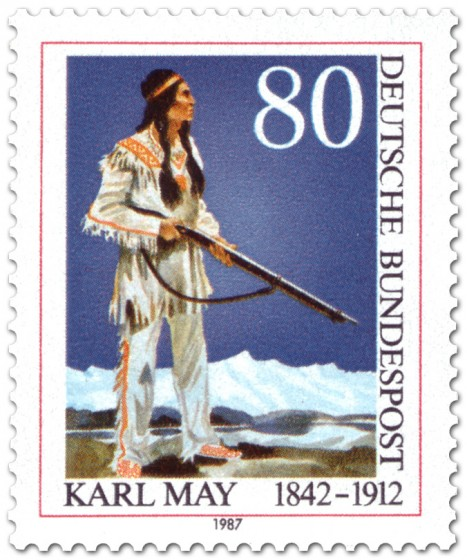 Briefmarke: Winnetou (von Karl May)