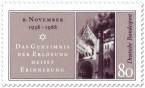Briefmarke: 50. Jahrestag der Reichskristallnacht (9. November)