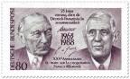 Briefmarke: Konrad Adenauer und Charles de Gaulle