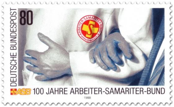 Briefmarke: 100 Jahre Arbeiter-Samariter-Bund