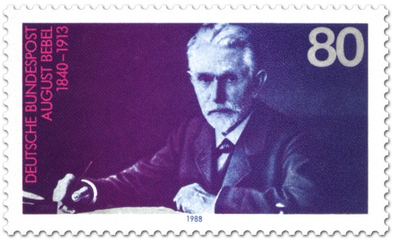 Briefmarke: August Bebel (Politiker)