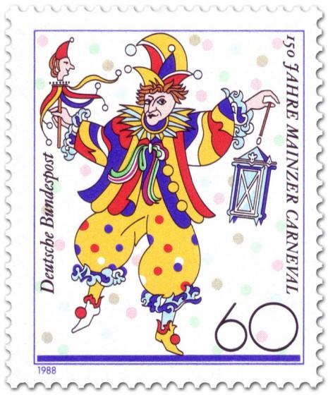 Briefmarke: Bajass, 150 Jahre Mainzer Carneval