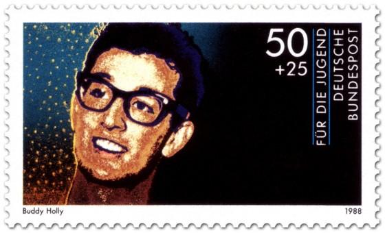 Briefmarke: Buddhy Holly (Musiker)