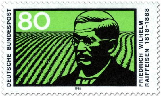 Briefmarke: Feld - Friedrich Wilhelm Raiffeisen