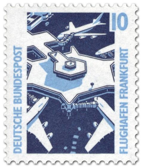 Briefmarke: Flughafen Frankfurt a./M.