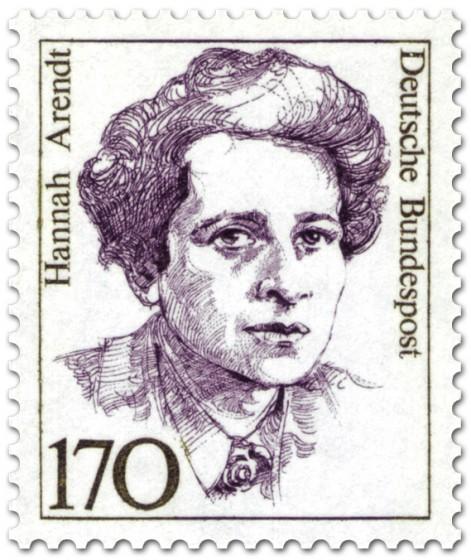 Briefmarke: Hannah Arendt (Schriftstellerin, Philosophin)