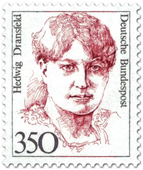 Briefmarke: Hedwig Dransfeld Fraünrechtlerin