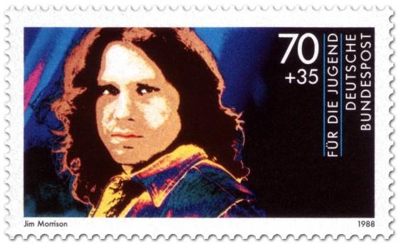 Briefmarke: Jim Morrison (Musiker)