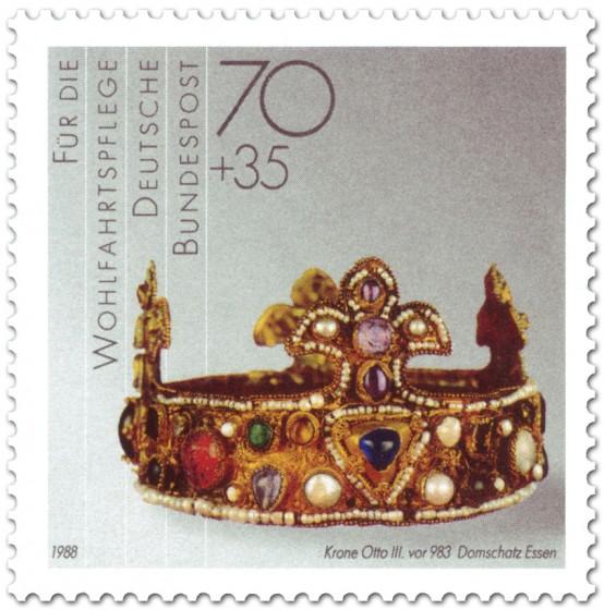 Briefmarke: Krone mit Edelsteinen (von Otto III, vor 963)