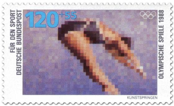Briefmarke: Wasserspringen (Kunstspringen)