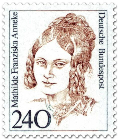 Briefmarke: Mathilde Franziska Anneke Schriftstellerin