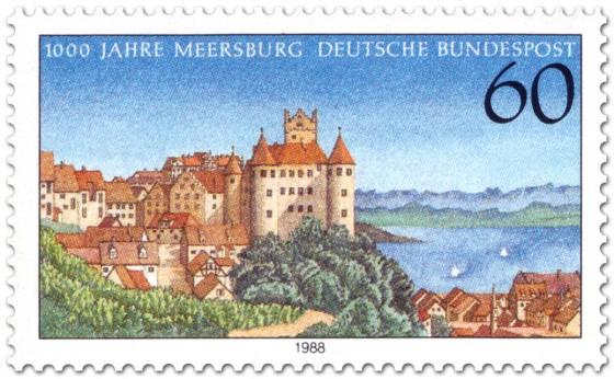 Briefmarke: Meersbug am Bodensee (Stadtansicht)