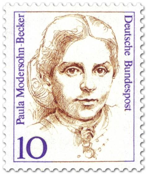 Briefmarke: Paula Modersohn-Becker (Malerin)