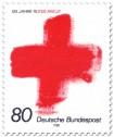 Briefmarke: 125 Jahre Internationales Rotes Kreuz