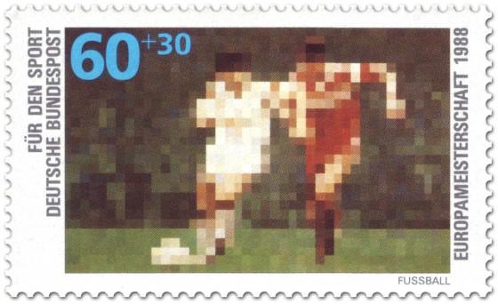 Briefmarke: Fussball (für den Sport)