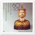 Briefmarke: Vergoldete Büste (Karl der Große, nach 1349)
