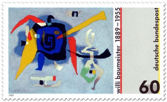 Briefmarke: Bluxao (Gemälde) von Willi Baumeister