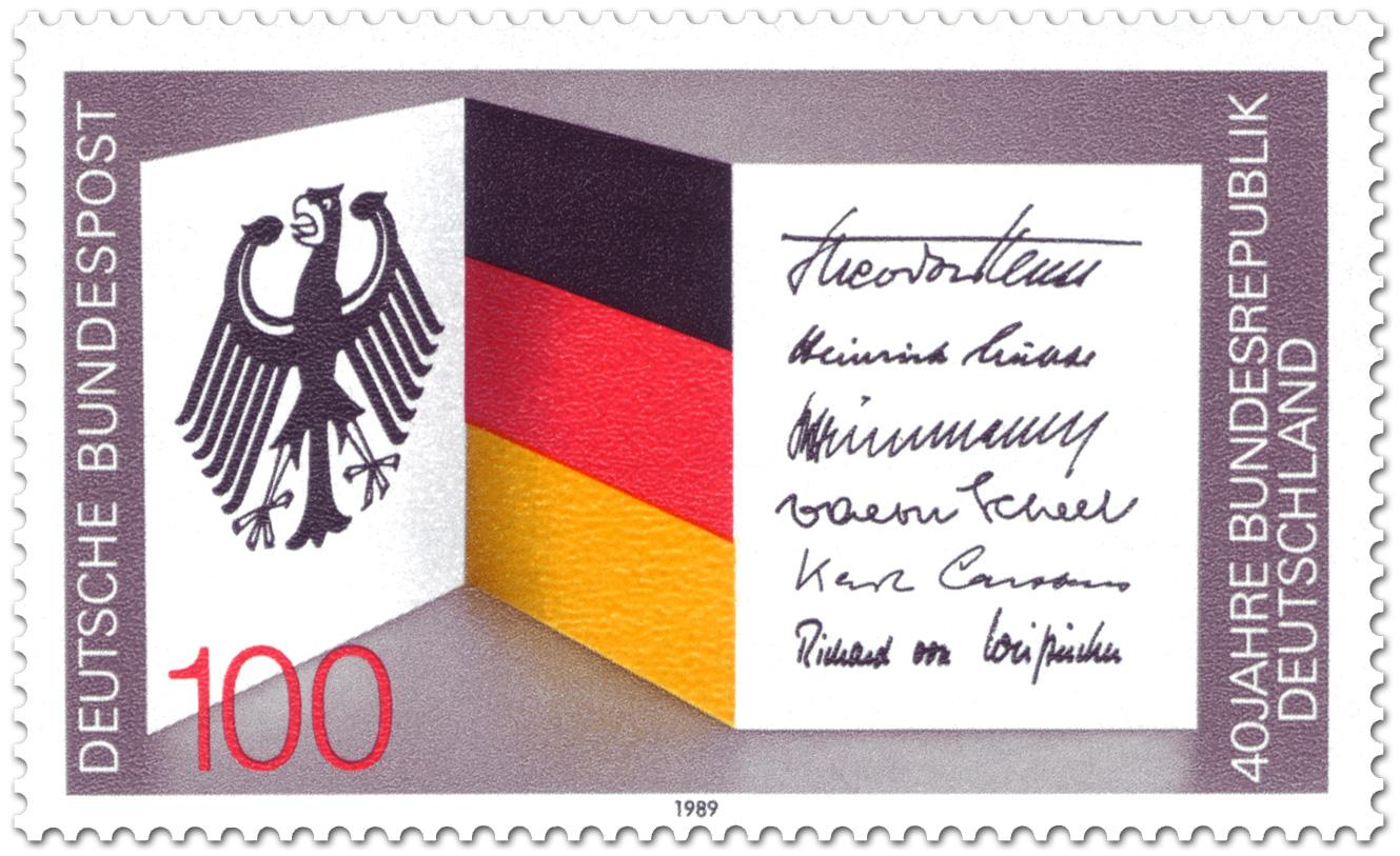 40 Jahre Bundesrepublik Deutschland Briefmarke 1989