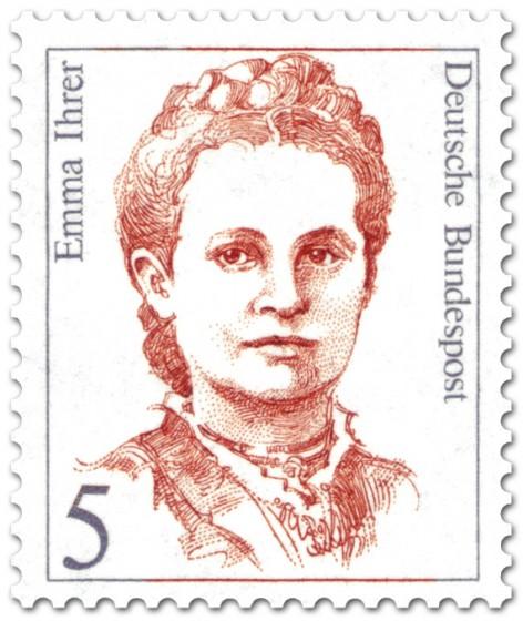 Briefmarke: Emma Ihrer (Gewerkschafterin)