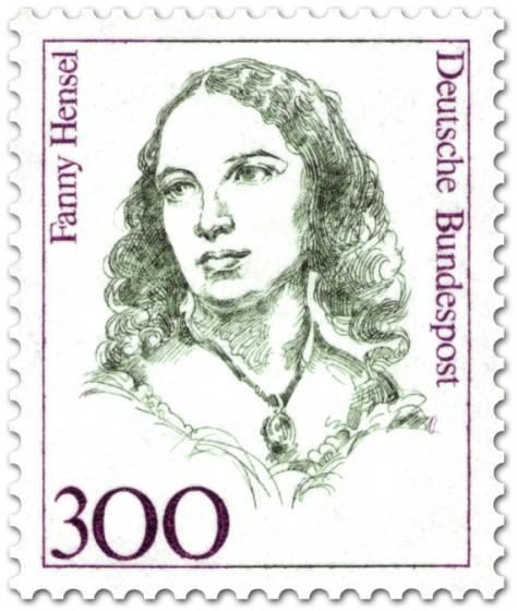 Briefmarke: Fanny Hensel (Komponistin)