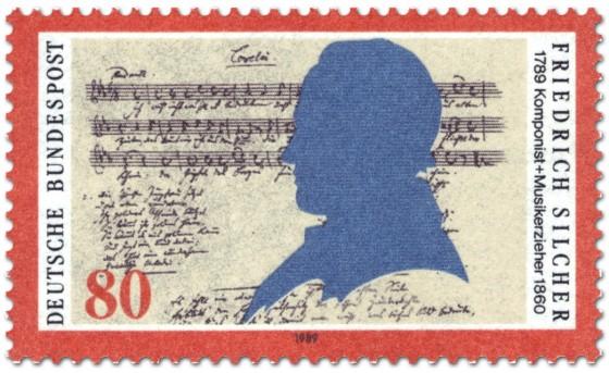 Briefmarke: Friedrich Silcher Komponist