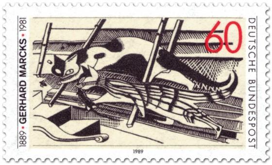 Briefmarke: Gerhard Marcks Grafiker
