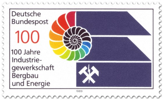 Briefmarke: 100 Jahre IG Bergbau und Energie