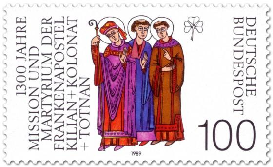 Briefmarke: Kilian (irischer Bischof)