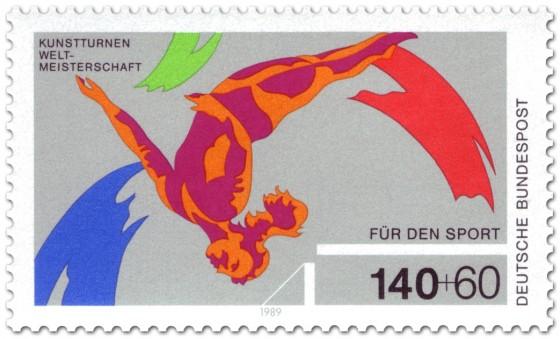 Briefmarke: Kunstturnen Salto