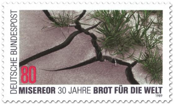 Briefmarke: 30 Jahre Misereor - Brot für die Welt