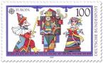 Briefmarke: Puppentheater: Kasper und Prinzessin