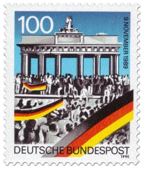 Briefmarke: Brandenburger Tor (Mauerfall)
