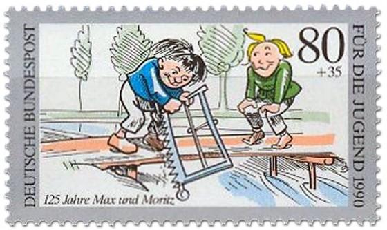 Briefmarke: Brücke Ansägen Max Moritz