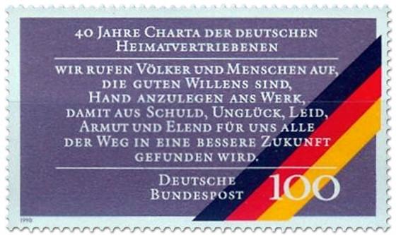 Briefmarke: Charta der deutschen Heimatvertriebenen