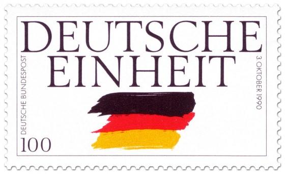 Briefmarke: Deutsche Einheit 3 Oktober 1990