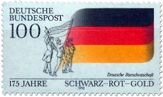 Briefmarke: Deutsche Fahne 1990