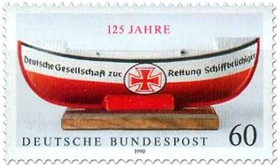 Briefmarke: Deutsche Gesellschaft zur Rettung Schiffbrüchiger (125 Jahre)