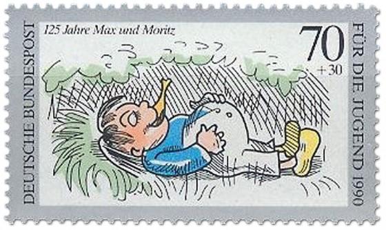 Briefmarke: Fauler Sack Max