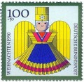 Briefmarke: Goldener Weihnachtsengel