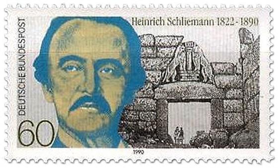 Briefmarke: Heinrich Schliemann