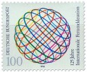 Briefmarke: Int. Fernmeldeunion, Weltkugel